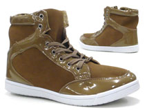Damen Schuhe Stiefelette High Class High Top Sneaker camel 40