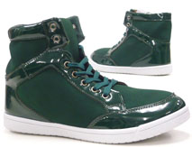 Damen Schuhe Stiefelette High Class High Top Sneaker grün 38