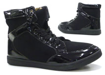 Damen Schuhe Stiefelette High Class High Top Sneaker schwarz 38