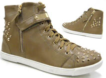 Killer Girl High Top Sneaker Damen Schuhe Stiefelette camel 40