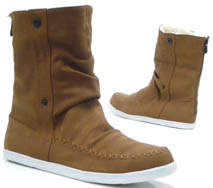 Damen Schuhe Stiefelette Teddy Kunst Fell High Top Sneaker camel 40