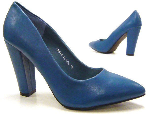 elegante damen schuhe pumps standart high heels blau 39 ebay. Black Bedroom Furniture Sets. Home Design Ideas