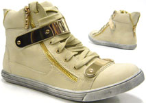 Designer Damen Sneaker High Fashion Schuhe beige 40