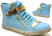 Designer Damen Sneaker High Fashion Schuhe hellblau 40