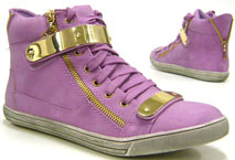 Designer Damen Sneaker High Fashion Schuhe lila 40