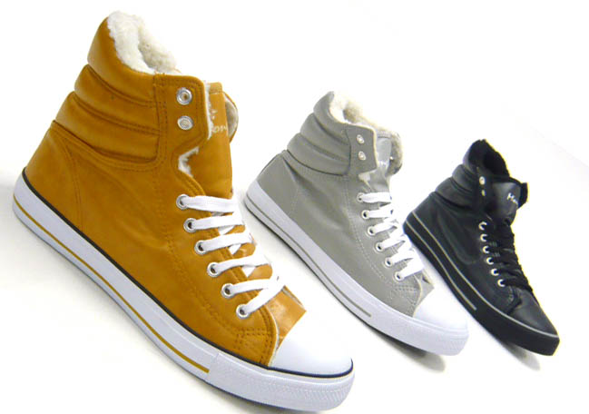 thick lined high top sneakers mens shoes lace up ebay. Black Bedroom Furniture Sets. Home Design Ideas