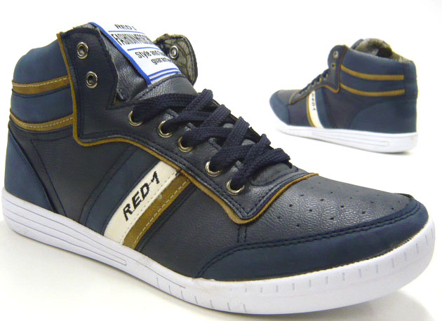 designer herren high top sneaker sporlich elegante freizeit schuhe ebay. Black Bedroom Furniture Sets. Home Design Ideas