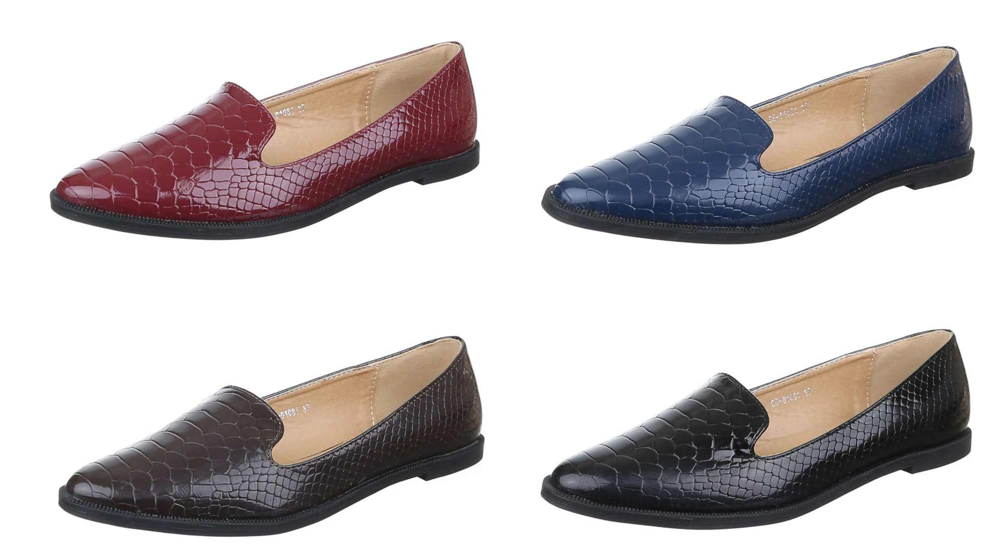 smarte slipper damen tassel loafer schuhe kroko style lack halbschuhe 36 41 ebay. Black Bedroom Furniture Sets. Home Design Ideas