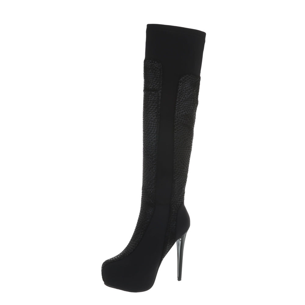 TOP Stiletto Damen Stiefel Overkneestiefel Plateau pi226 High Heels Stiletto TOP Stiefel 36-41 568808