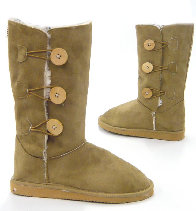 gef tterte winter boots damen stiefel camel 38. Black Bedroom Furniture Sets. Home Design Ideas
