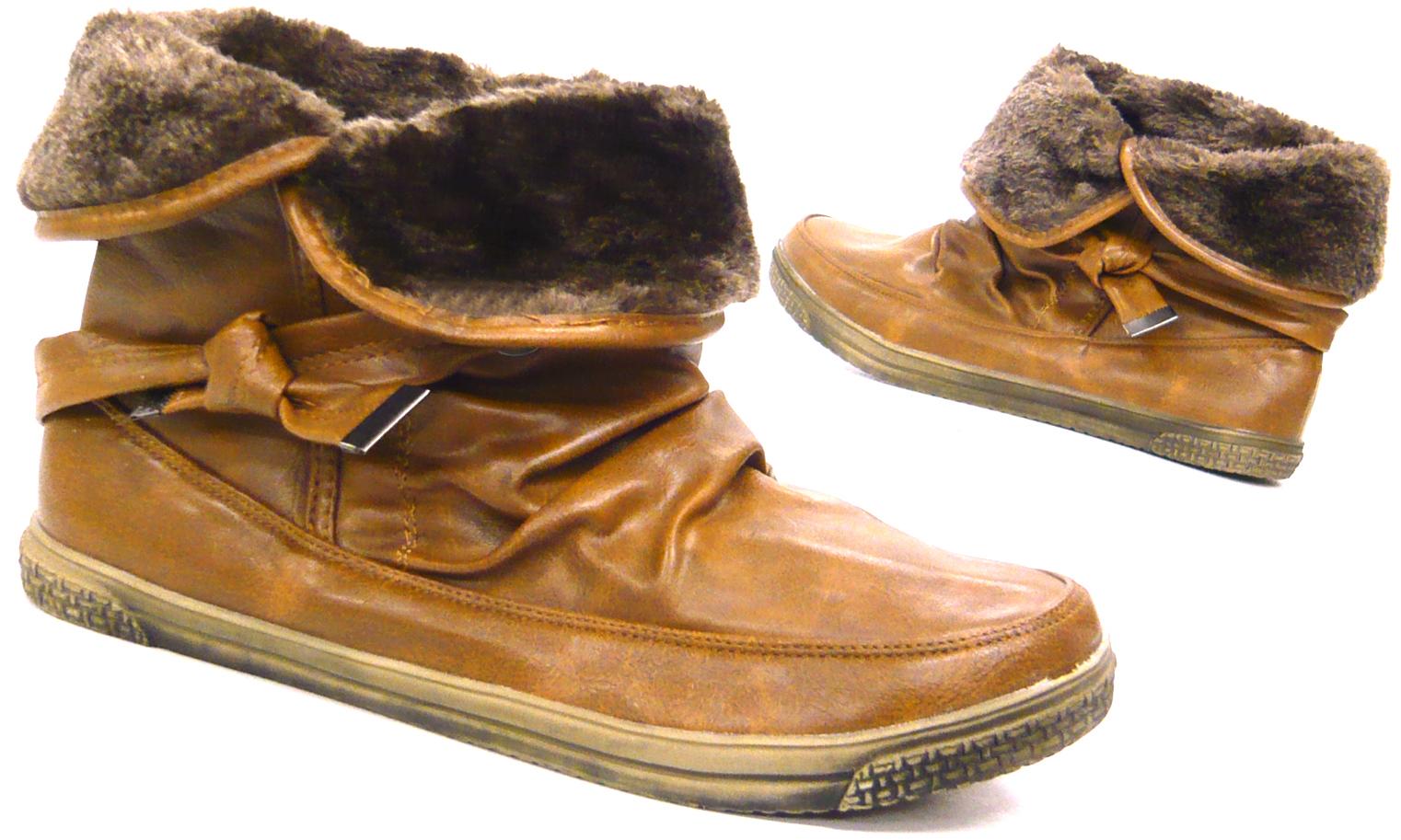 damen schuhe sneaker mit kunst fell rand winter kunst fell. Black Bedroom Furniture Sets. Home Design Ideas