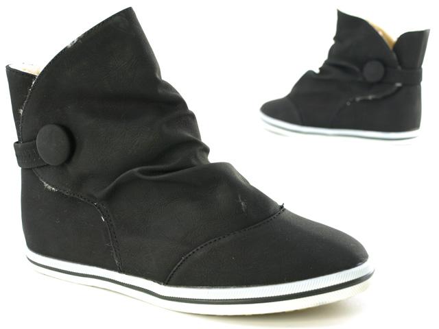damen winter sneaker kunst fell stiefelette schwarz 37. Black Bedroom Furniture Sets. Home Design Ideas