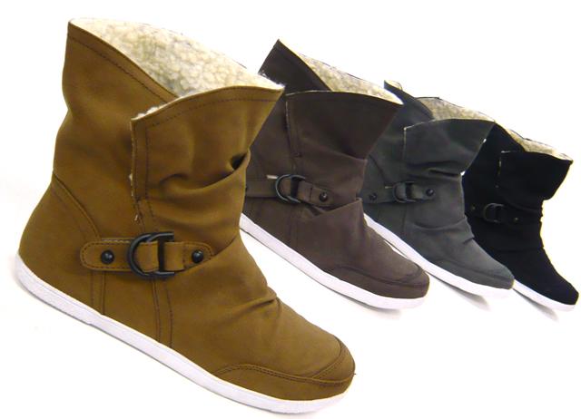 41cad3a4fcdf1 Sportliche Damen Schuhe Stiefeletten Teddy Kunst Fell Winter Boots | eBay